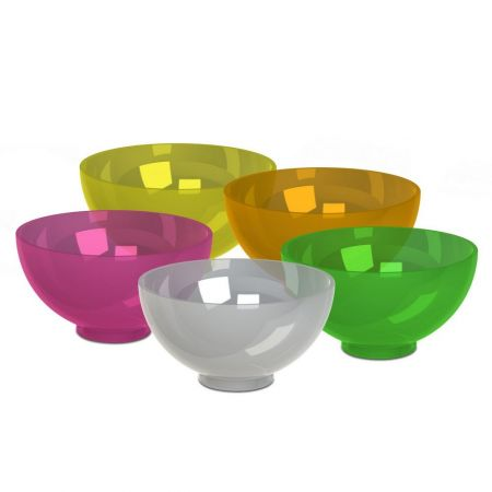 BOWL - CONTAINER TO MIX OF PLASTER AND ALGINATE - ASSORTED10 units (2 of each color: yellow, transpa