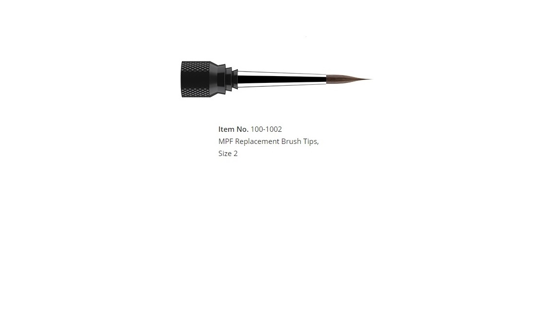 MPF Replacement Brush Tips, Size 2 (1/pk)