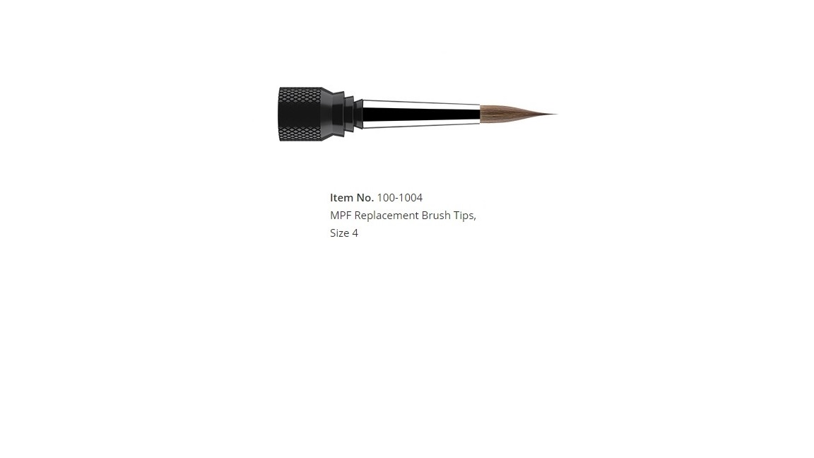 MPF Replacement Brush Tips, Size 4 (1/pk)