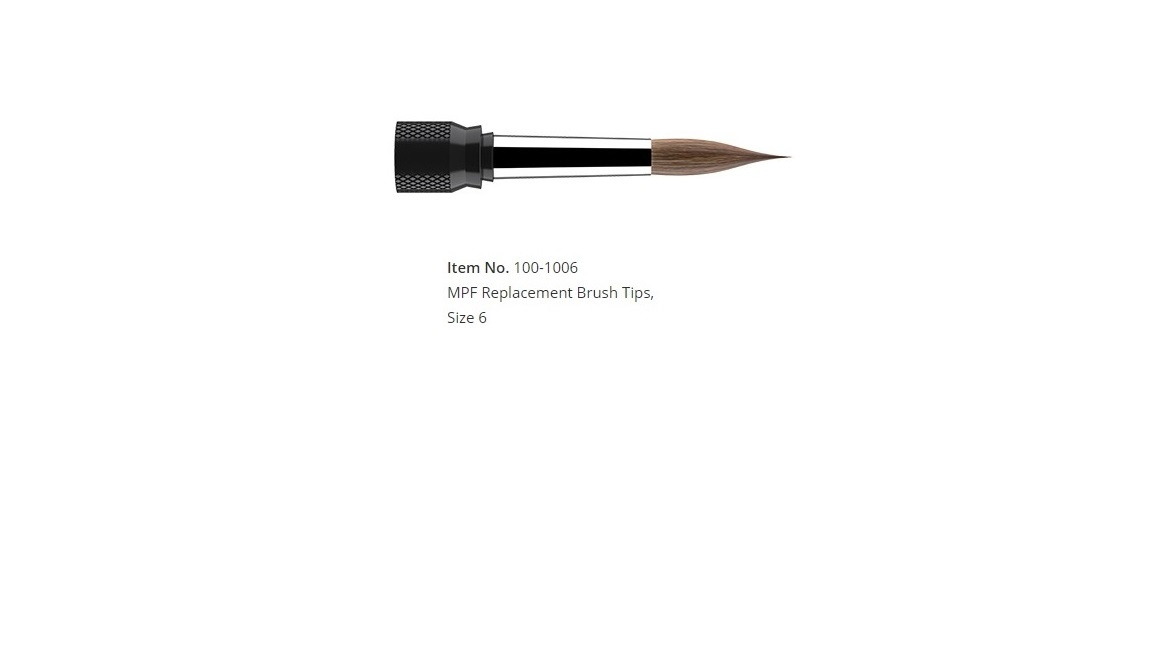 MPF Replacement Brush Tips, Size 6 (1/pk)