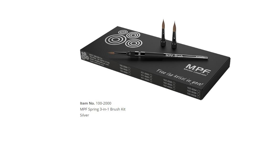 MPF Spring 3-in-1 Brush Kit, Silver