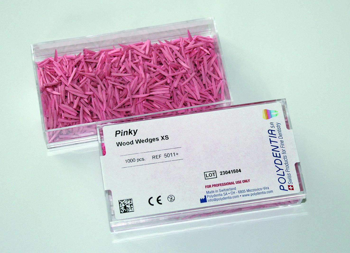 Pinky Wood Wedges xs 11mm - 200 pcs