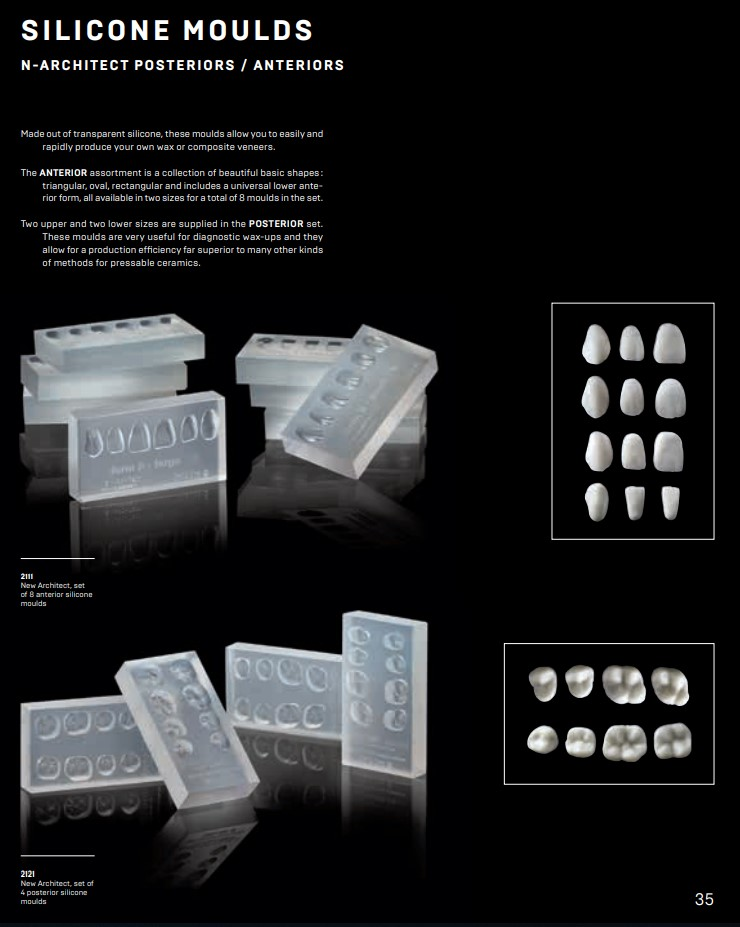 New Architect, Anterior silicone moulds / 8pcs
